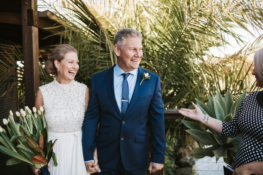 high-neck second wedding dress