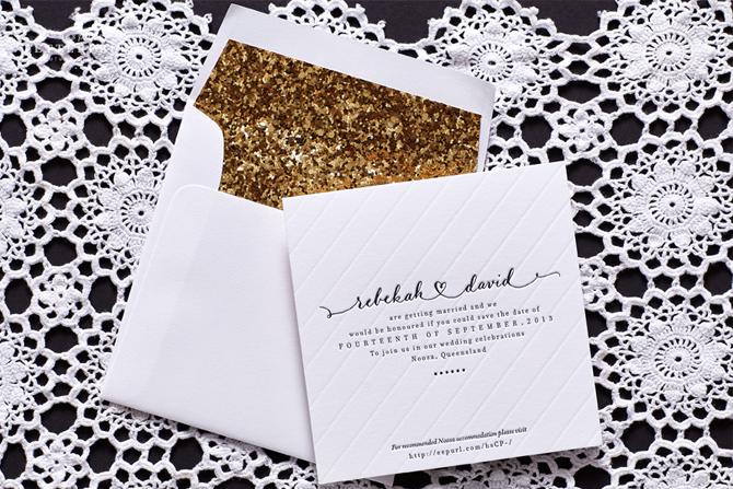 Elegant Invites | PreownedWeddingDresses.com