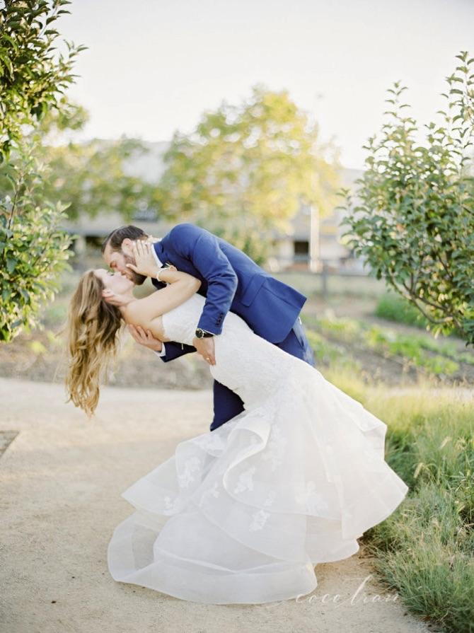 victoria & evan dip kiss