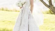 amsale dahlia wedding dress for sale