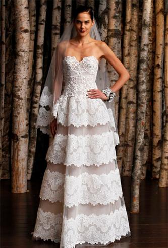 Naeem Khan Barcelona wedding dress