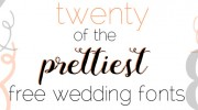 Prettiest Free Wedding Fonts   PreOwnedWeddingDresses.com