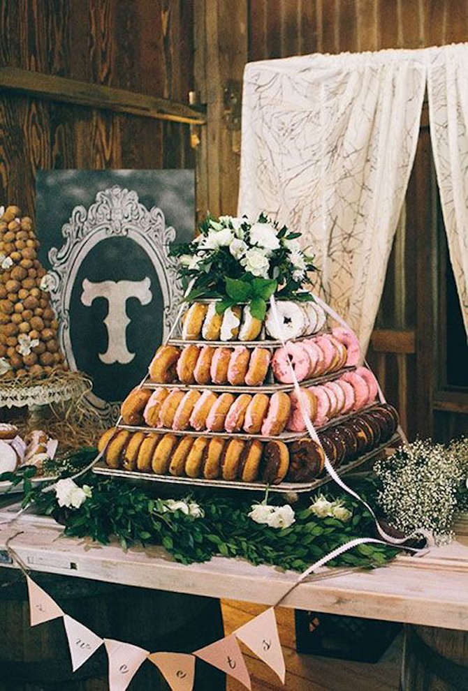 Delightful Donut Displays | PreOwnedWeddingDresse.com