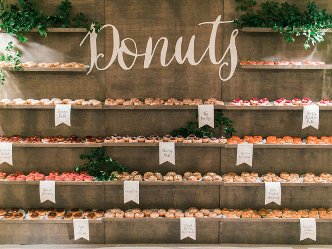 Delightful Donut Displays | PreOwnedWeddingDresses.com