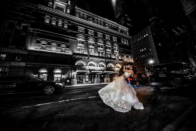 Monique Lhuillier Real Wedding From David Roth Photography | PreOwnedWeddingDresses.com