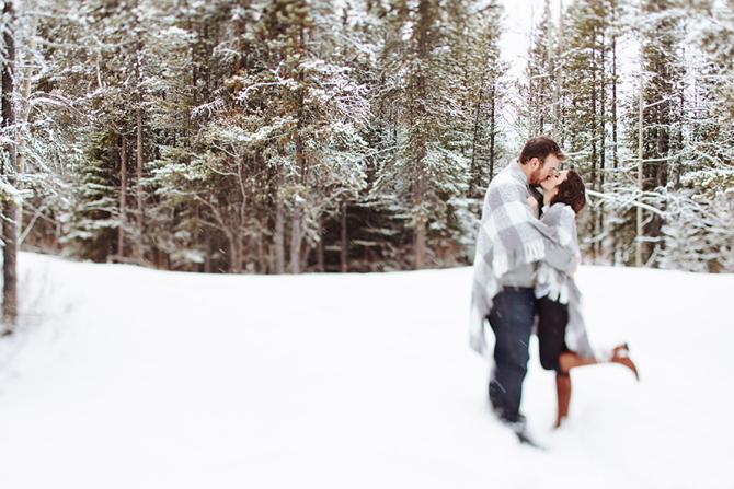Winter Engagement Photo Ideas | PreOwnedWeddingDresses.com
