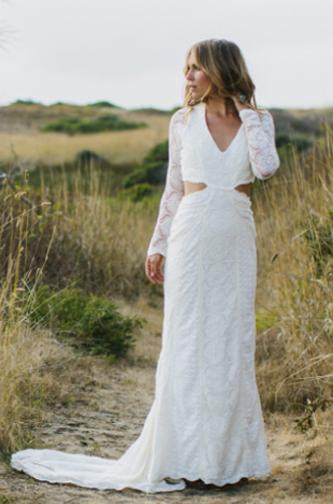 Daughters of Simone Boho wedding dress