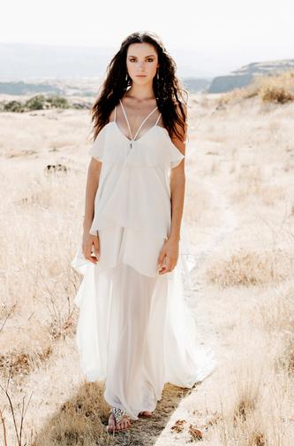Elizabeth Dye Boho wedding dress