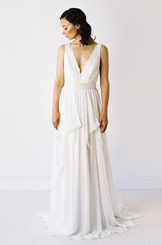 Truvelle boho wedding dress