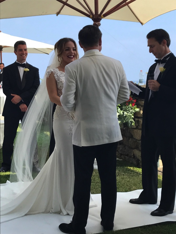 Pnina Tornai Real Wedding From Giandomenico Cosentino | PreOwnedWeddingDresses.com