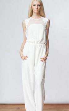 & for love wedding pantsuit