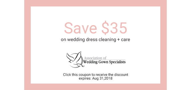 Wedding dress cleaning + care