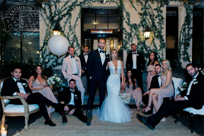 Ally Lutar Ines Di Santo wedding dress