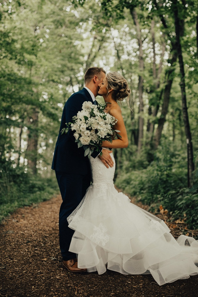 Monique Lhuillier Real Wedding from Whit McGuire