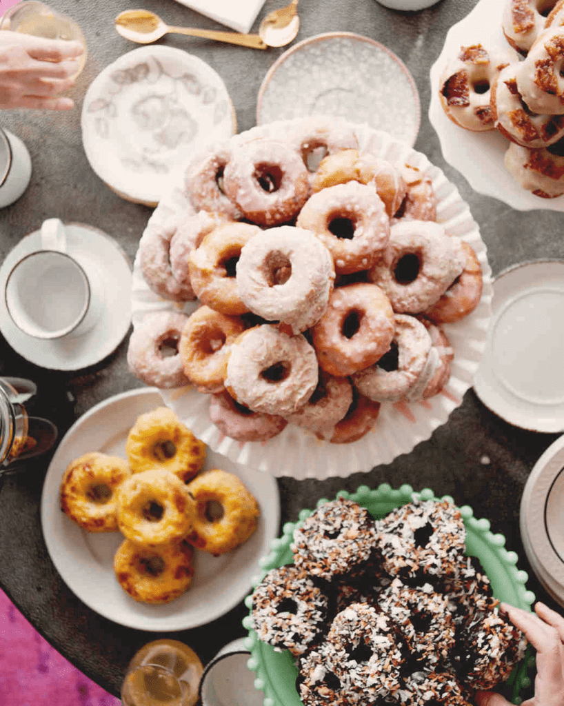 Donuts on Serving Plates