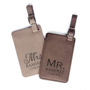 Mr and Mrs Personalized Luggage Tags
