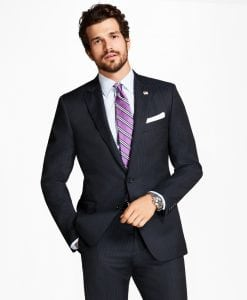 Regent Fit Alternating Strip 1818 Suit