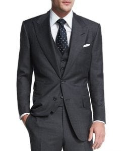 TOM FORD Windsor Base Sharkskin Three-Piece Suit
