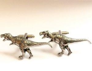 handmade dinosaur cufflinks