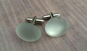 beach glass cufflinks