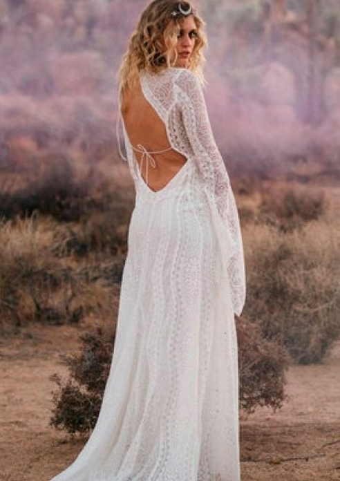 rue de seine beach wedding dress