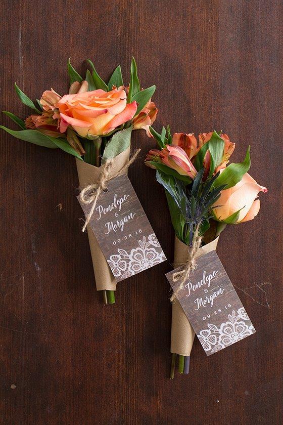 mini wedding bouquet favors