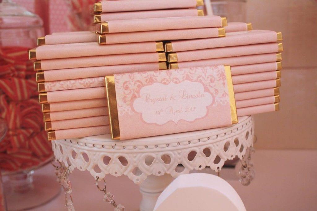 personalized wedding chocolate bars