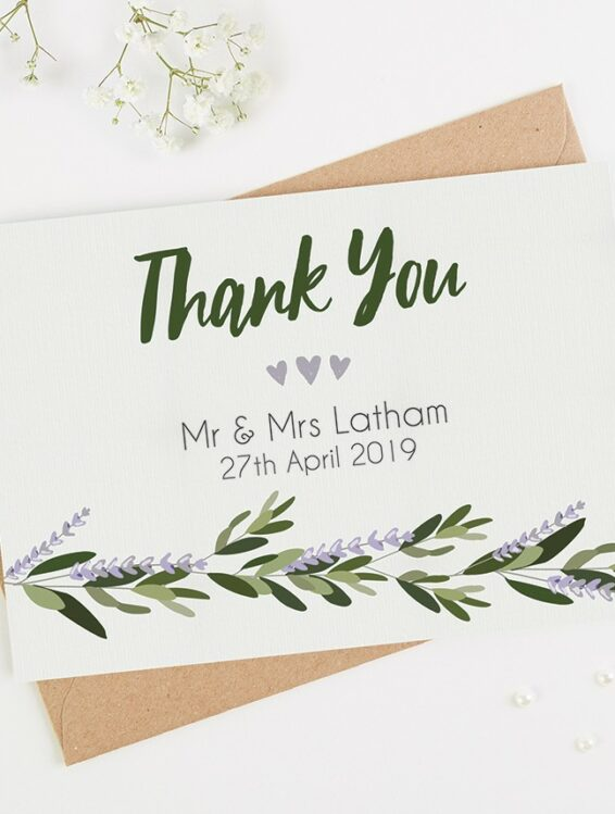 thank you card examples