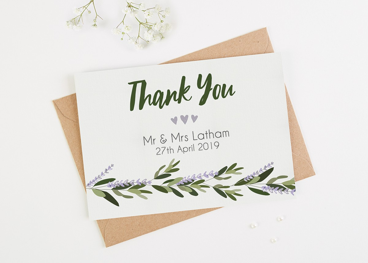 10 Wedding Thank You Card Examples You Ll Love