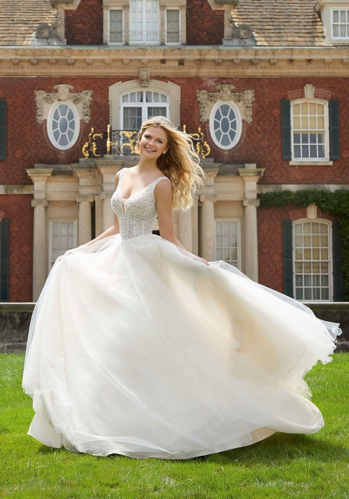 paris wedding ball gown morilee