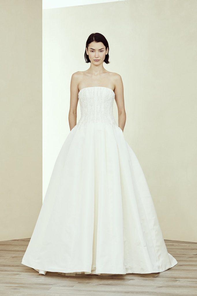 bingham amsale ball gown