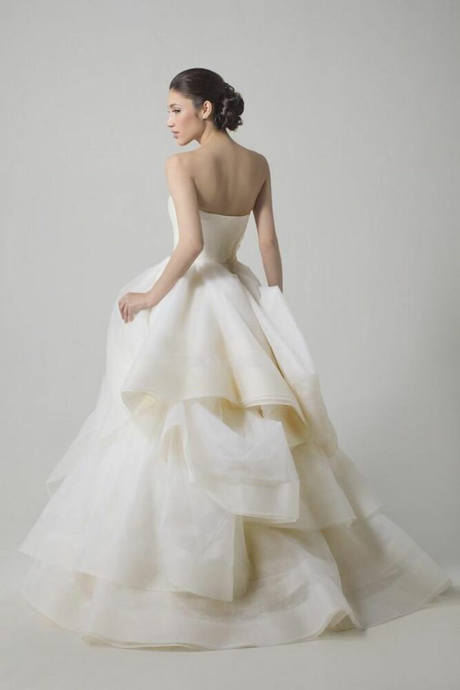 Model wearing Vera Wang Katherine wedding dress