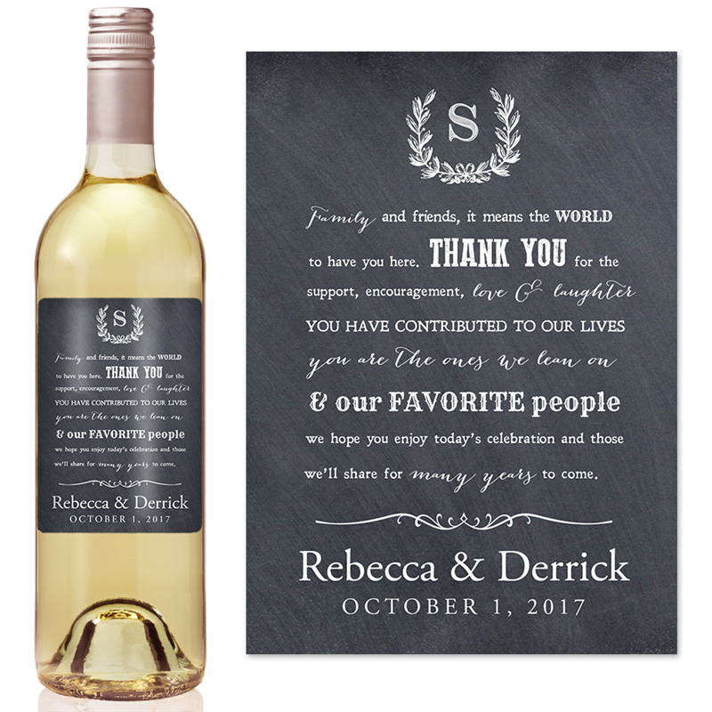 diy wine glass label