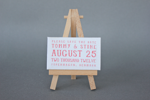 save the date mini easel