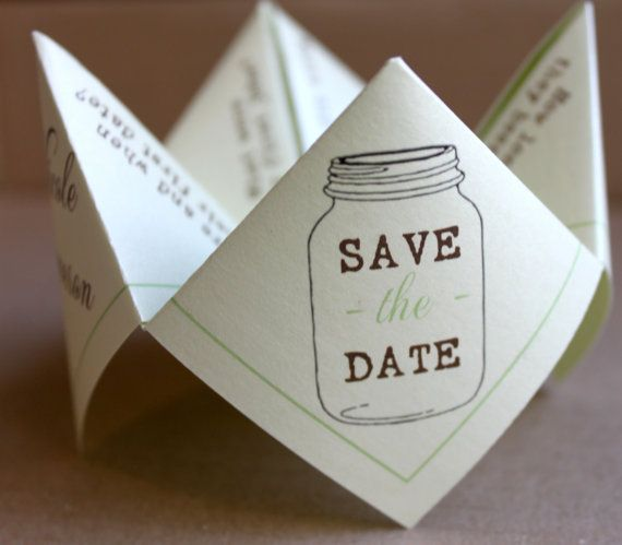 save the date cootie catcher