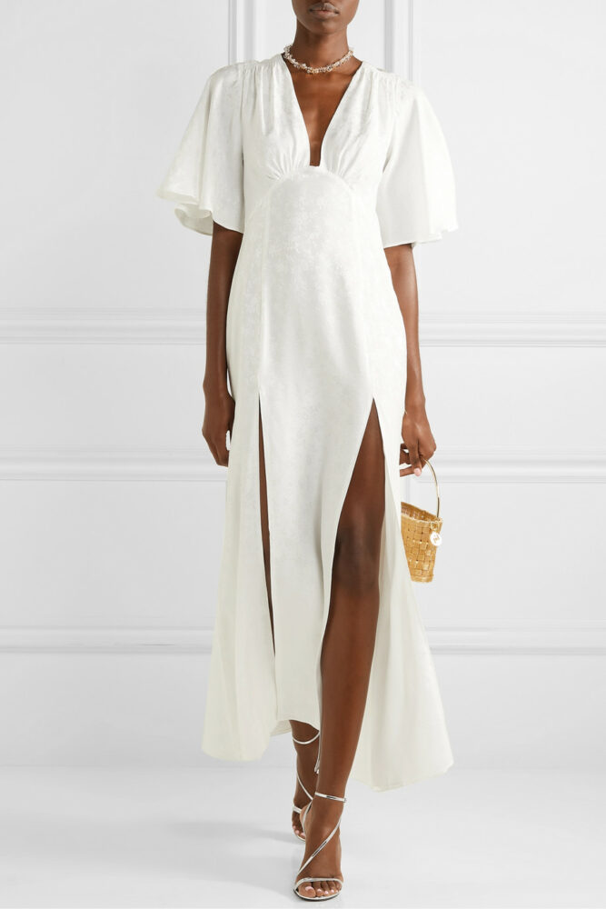 Silk Jacquard Gown by Les Reveries at Net-A-Porter