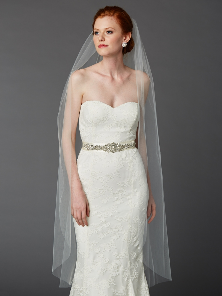 bride wearing ballet veil