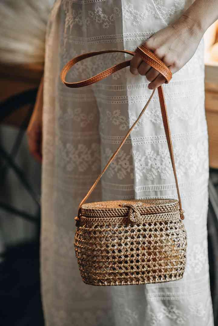Rattan purse