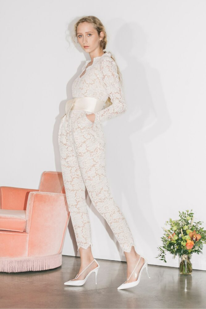 Stella McCartney Lace Bridal Jumpsuit from the Made With Love Bridal Collection
