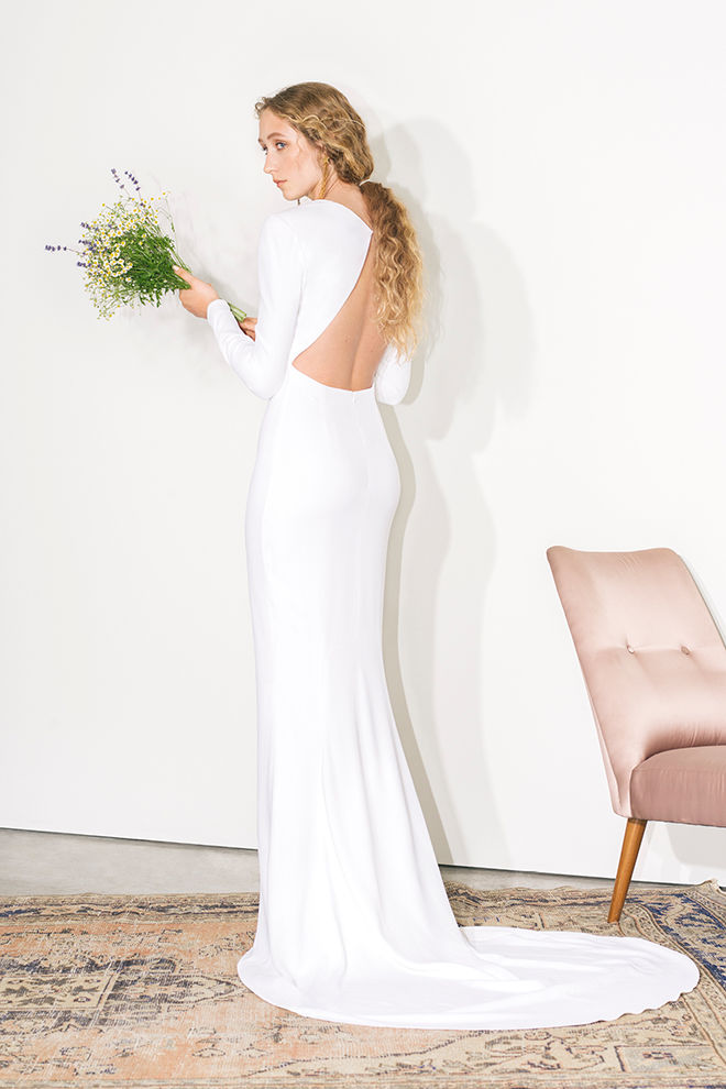 Stella McCartney backless wedding dress