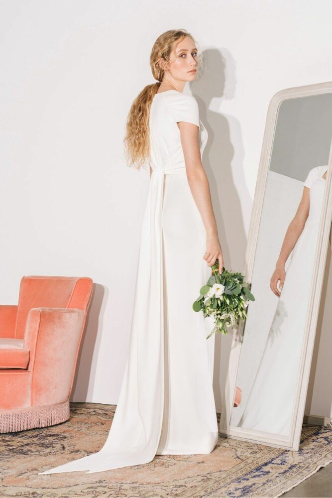 Bride in Stella McCartney wedding dress