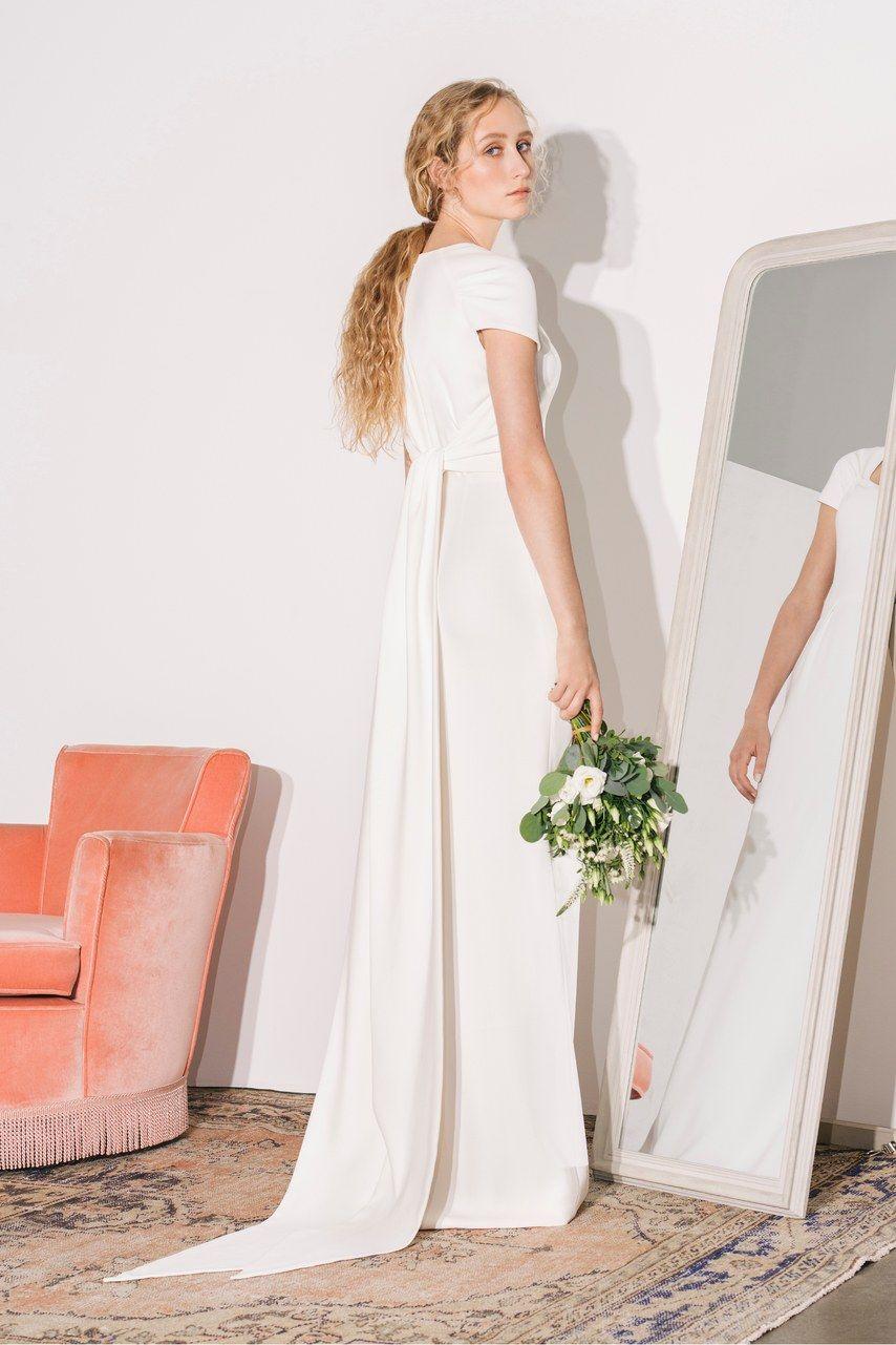 Bride in Stella McCartney wedding dress