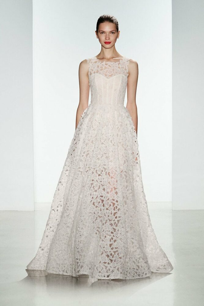 Lake wedding gown by Amsale