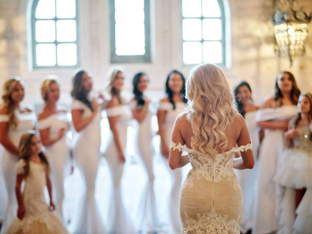 Bride wearing custom made Martina Liana 1012.