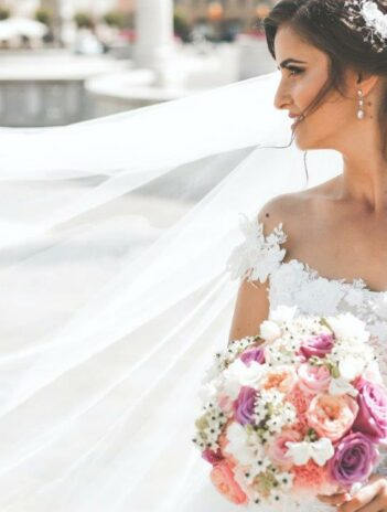 bride wearing ballgown