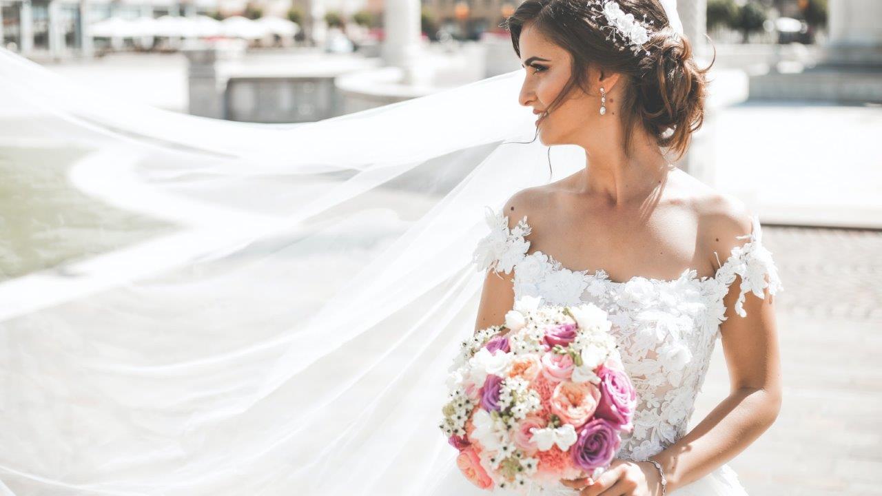 bride wearing ballgown