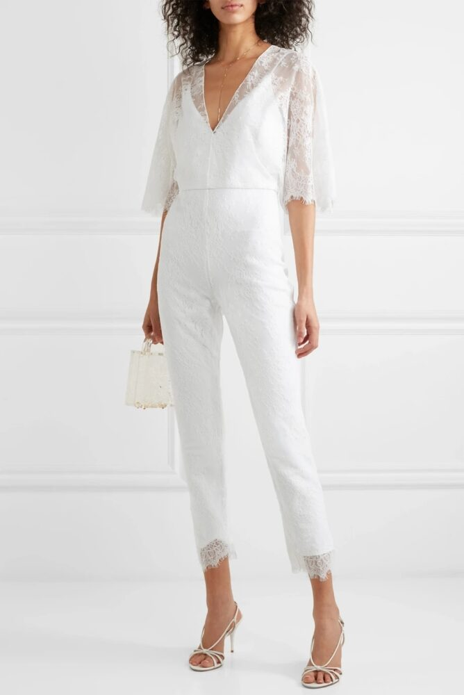 Cushnie - Cropped Lace Jumpsuit