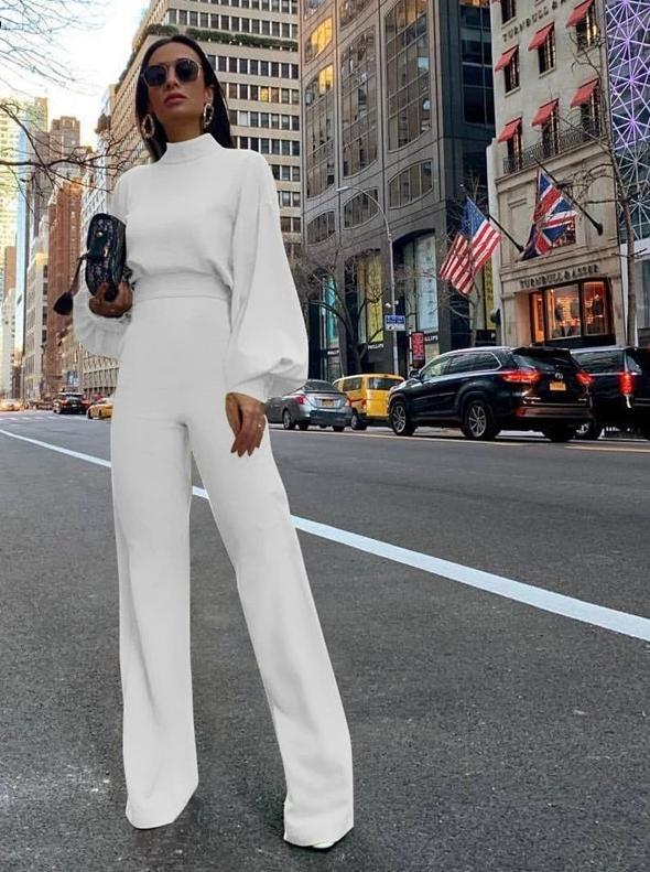 Sex And The City Glam Pantsuit Wedding Dress