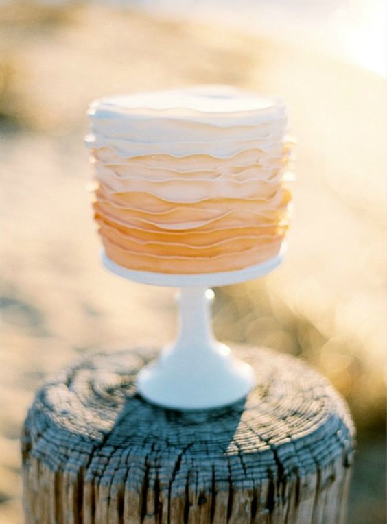 Sweet on Single Layer Wedding Cakes