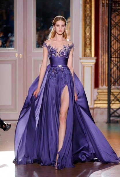 Pretty in purple wedding day dresses part 3 wedding attire heres another gown to walk in and stun your guests with a slit in the skirt and an illusion neckline round it out quite nicely junglespirit Image collections